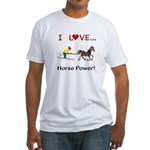 I Love Horse Power Fitted T-Shirt