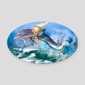 Best Seller Merrow Mermaid Oval Car Magnet