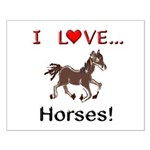 I Love Horses Small Poster