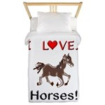 I Love Horses Twin Duvet