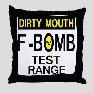 F-Bomb Test Range Throw Pillow