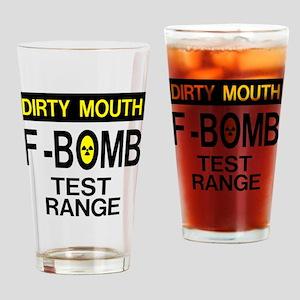 F-Bomb Test Range Drinking Glass