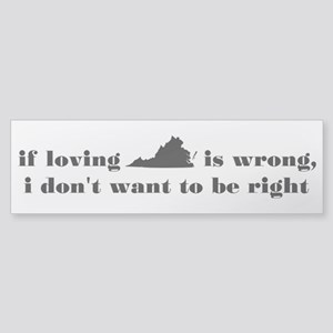 Loving Virginia Bumper Sticker