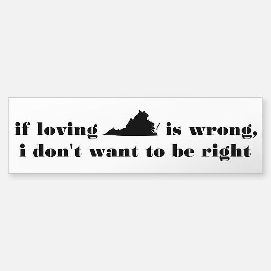Loving Virginia Bumper Bumper Bumper Sticker