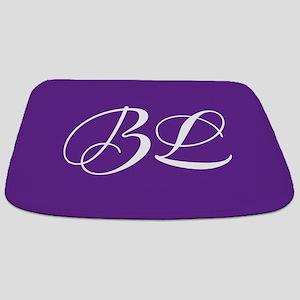 Purple Monogram Bathmat