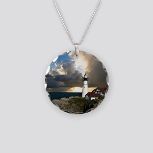 Lighthouse Beacon Necklace Circle Charm