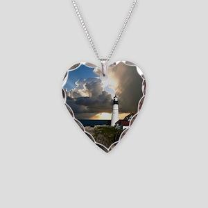 Lighthouse Beacon Necklace Heart Charm