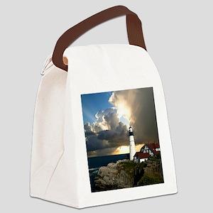 Lighthouse Beacon Canvas Lunch Bag