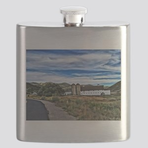 Barn and Trees Portrait Flask
