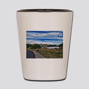 Barn and Trees Portrait Shot Glass