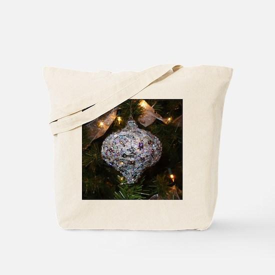 Silver Glitter Tote Bag