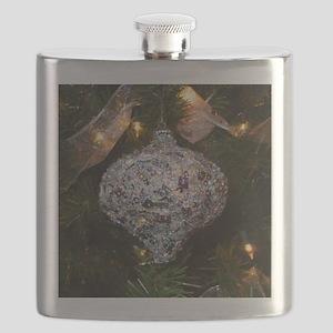 Silver Glitter Flask