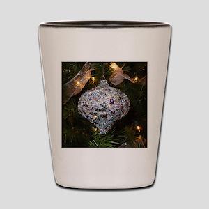 Silver Glitter Shot Glass