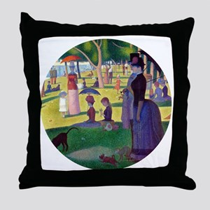 A Sunday Afternoon on La Grande Jatte Throw Pillow