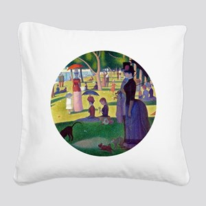 A Sunday Afternoon on La Gran Square Canvas Pillow