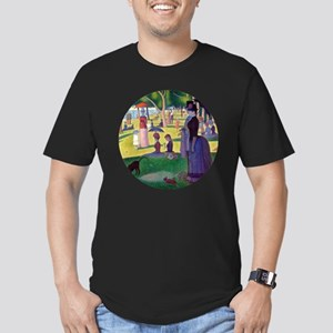 A Sunday Afternoon on  Men's Fitted T-Shirt (dark)