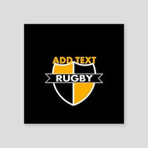 """Rugby Crest Black Gold blkpz Square Sticker 3"""" x 3"""