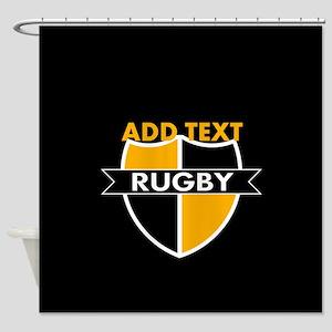 Rugby Crest Black Gold blkpz Shower Curtain