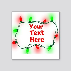 Custom Christmas Lights Sticker