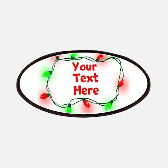Custom Christmas Lights Patches