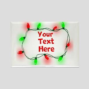 Custom Christmas Lights Magnets
