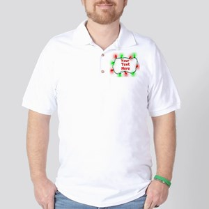 Custom Christmas Lights Golf Shirt