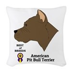 American Pit Bull Terrier Woven Throw Pillow