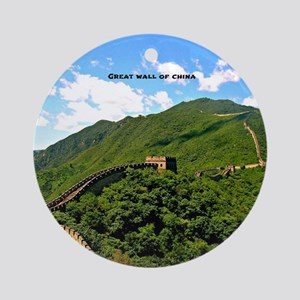 Great Wall of China Round Ornament