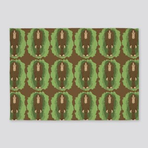 Cute Bigfoot 5'x7'Area Rug