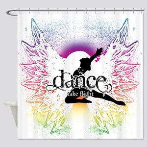 Dance Take Flight the Colors Shower Curtain