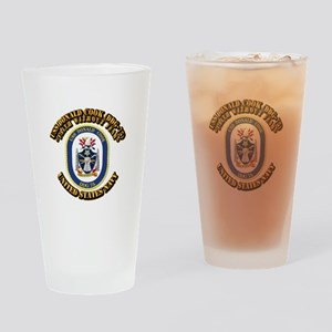 USS Donald Cook (DDG-75) with Text Drinking Glass