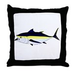 Blackfin Tuna v2t Throw Pillow