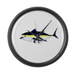 Blackfin Tuna v2t Large Wall Clock