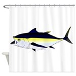 Blackfin Tuna v2t Shower Curtain