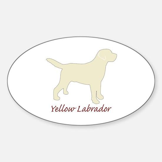 Yellow Labrador Oval Decal