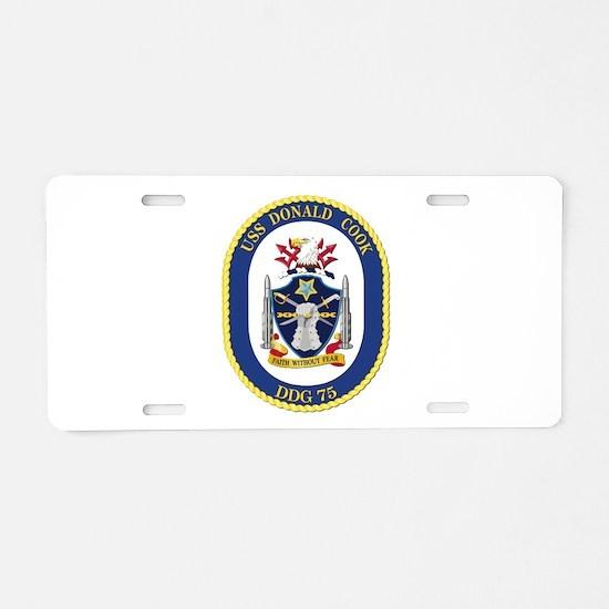 USS Donald Cook (DDG-75) Aluminum License Plate