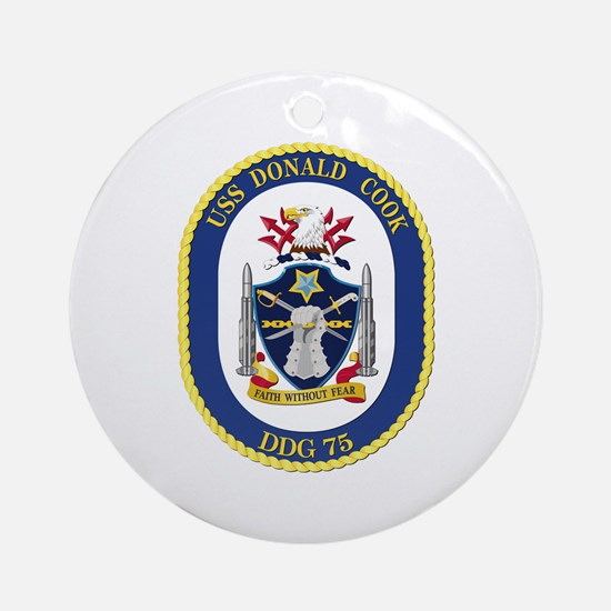 USS Donald Cook (DDG-75) Ornament (Round)