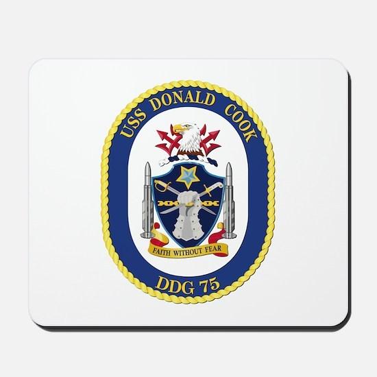 USS Donald Cook (DDG-75) Mousepad