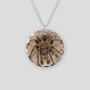 Rosehair Tarantula Necklace Circle Charm
