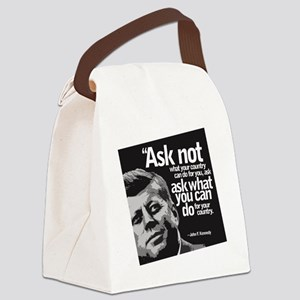 Ask Not What Your Country Can Do  Canvas Lunch Bag