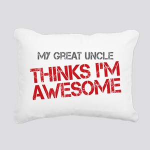 Great Uncle Awesome Rectangular Canvas Pillow
