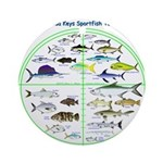 Florida Keys Fish Targets Ornament (Round)