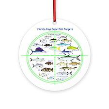 Florida Keys Fish Targets Ornament (Round)