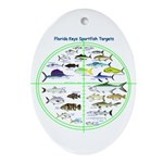 Florida Keys Fish Targets Ornament (Oval)