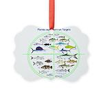 Florida Keys Fish Targets Ornament