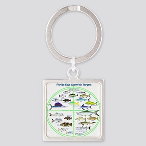 Florida Keys Fish Targets Keychains