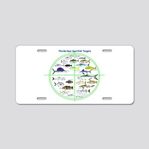 Florida Keys Fish Targets Aluminum License Plate