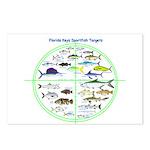 Florida Keys Fish Targets Postcards (Package of 8)