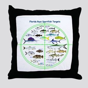 Florida Keys Fish Targets Throw Pillow