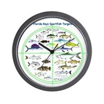 Florida Keys Fish Targets Wall Clock
